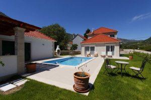 Villa Župa with a pool
