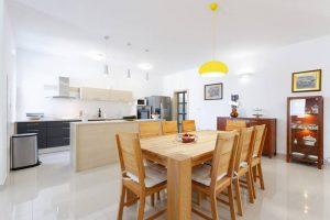Dining room and kitchen | Villa Župa in Croatia