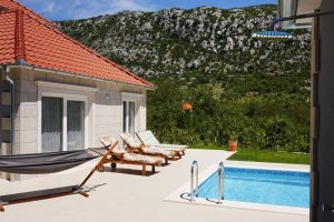 Pool in fornt of Villa Župa